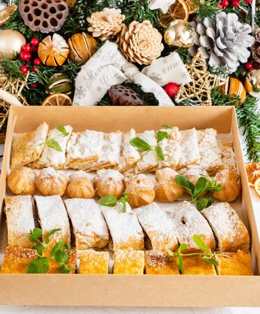 Christmas sweets in the box Stock Photo