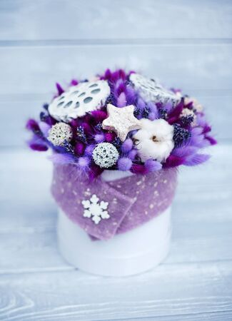 nice winter bouquet with stars