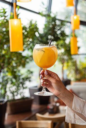 summer lemonade with pineapple and orange