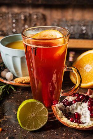 winter drinks in the cafe Reklamní fotografie