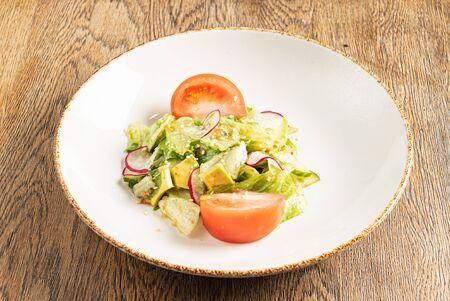 fresh salad with tomato and radish