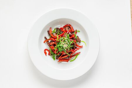 salad with beef and peppers