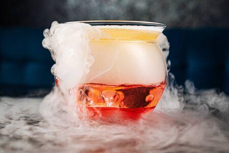 Creative cocktail in the bar Reklamní fotografie
