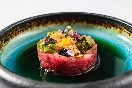 tuna tartare with soy sauce