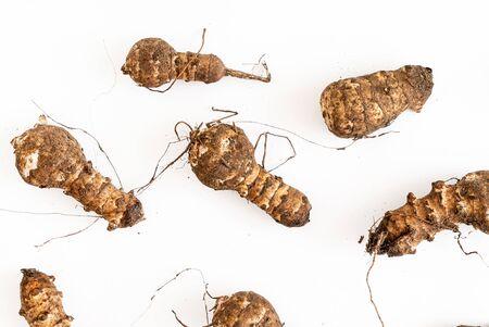 Organic Jerusalem Artichokes on the white 写真素材