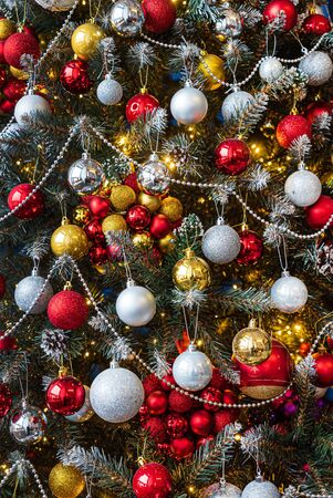 Beautiful Christmas tree with ornament