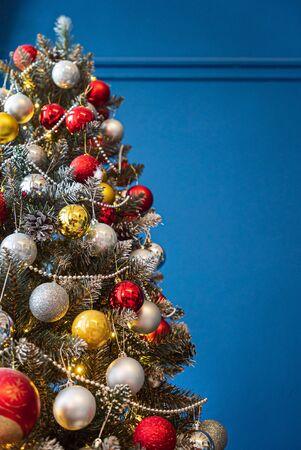 beautiful Christmas tree with balls