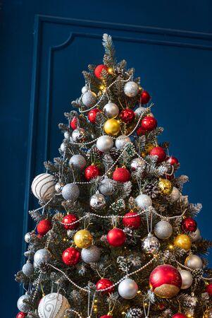 Beautiful Christmas tree with balls Stock fotó