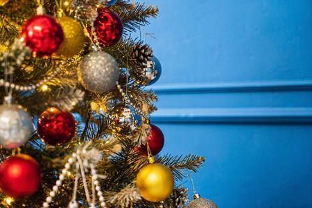 Beautiful Christmas tree with balls Stockfoto