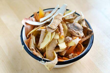 kitchen scraps for compost Stock Photo