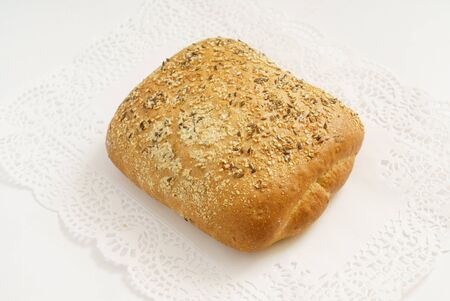 fresh bread with seeds