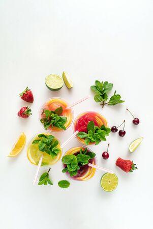 summer lemonade on the white background