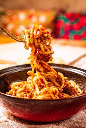 Laghman served in an Uyghur restaurant