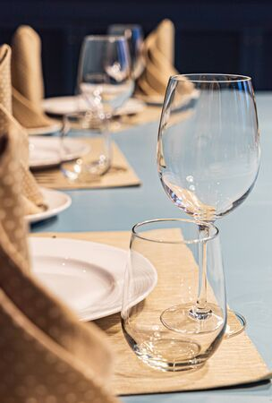 table setting for meal in the restaurant