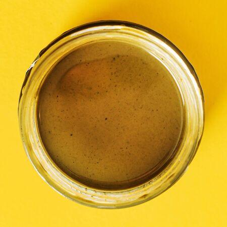 hemp butter in the bottle