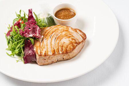 tuna steak with fresh salad