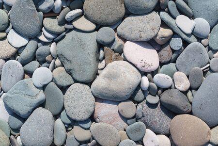 pebble stones at the beach