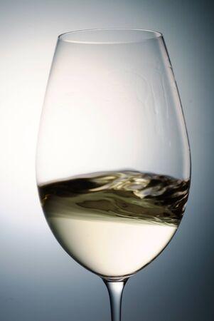 glass of white wine, macro