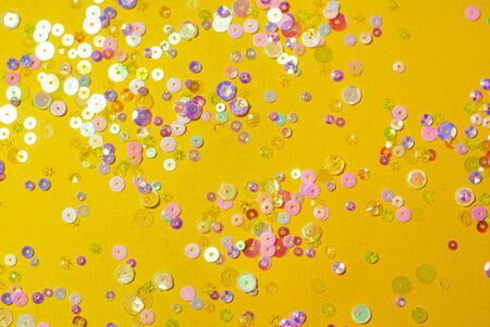 colorful confetti on the color background