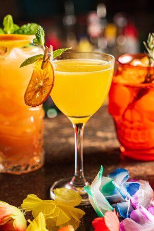 coctel mexicano en el bar
