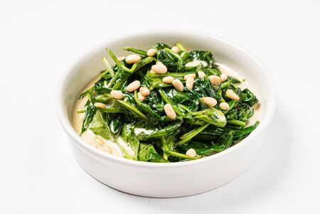 roasted spinach with creamy sauce