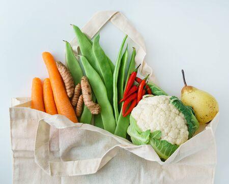 fresh organic vegetables, zero waste concept Standard-Bild