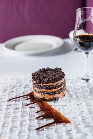 chocolate cake with sherry