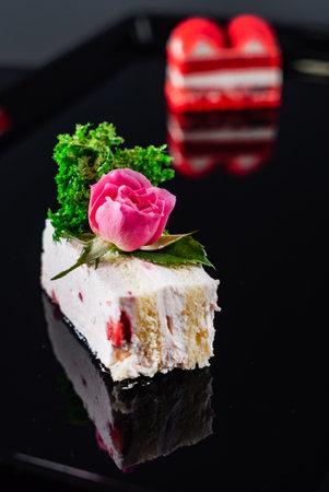 slice of birthday cake 免版税图像