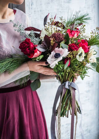 nice women with flowers