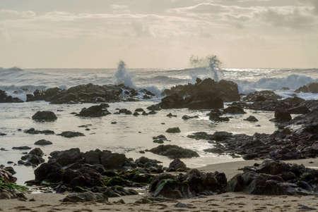 nice ocean in the Porto, Portugal 版權商用圖片