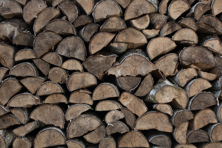 Firewood - pile of wood Zdjęcie Seryjne