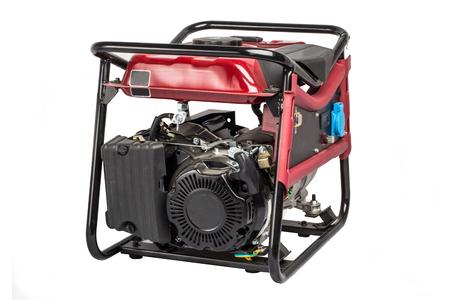 benzin: Portable benzin generator. isolated white background