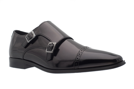 release: Black mens shoes > Elegant black business shoes - perfect  Stock Photo