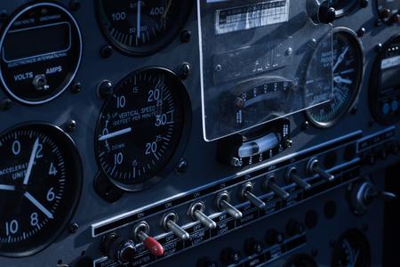 altimeter: cockpit > Interior of the airplane, glider - cockpit Stock Photo