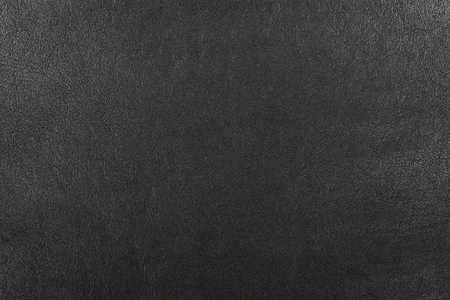 Black leather texture. Detailed structure of gray leather