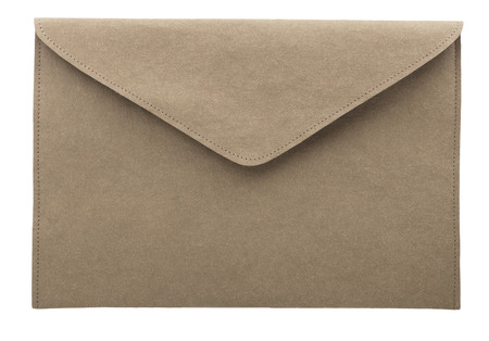 Gray Art Envelope. Old cover envelope isolated letter mail. Archivio Fotografico - 107710018