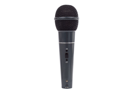 Microphone on white. Mic isolated on white.