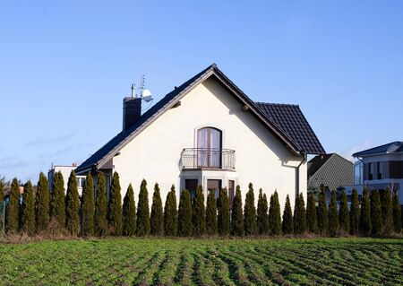 Ordinary house, European. Two Story Residential Home Stockfoto