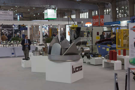 Poznan, Poland 01 Sep 2021: ITM Industry Europe, HIGH TECH EXPO. CNC technology. Editoriali