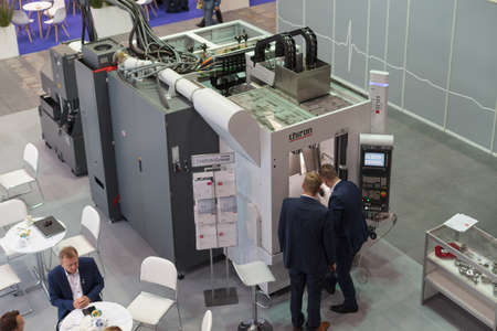 Poznan, Poland 01 Sep 2021: ITM Industry Europe. CHIRON Automation. Flexible and cost-effective automation, automatic industrial robot. Editoriali