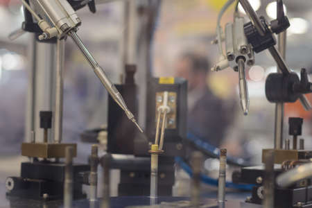 Poznan, Poland 01 Sep 2021: HIGH TECH EXPO. Automatic industrial robot. ITM Industry Europe,