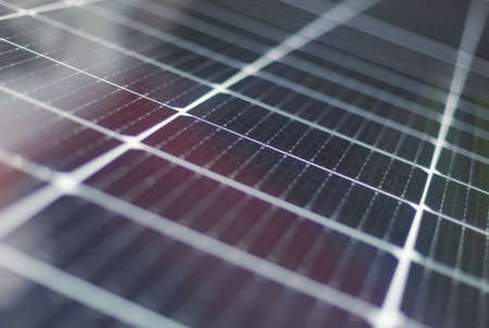 Abstract solar panels texture background. Close-up. Archivio Fotografico