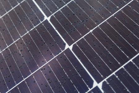 Abstract solar panels texture background. Close-up, macro Archivio Fotografico