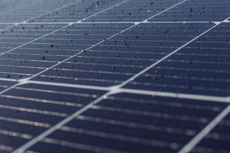 Close-up of Solar energy panel photovoltaics module and ABSTRACT