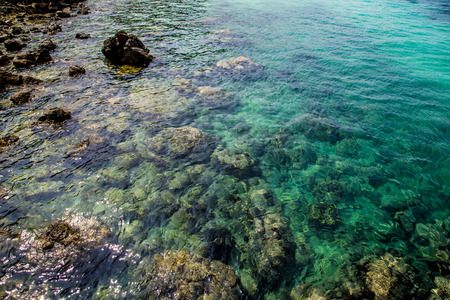 water scape: rocks in the sea