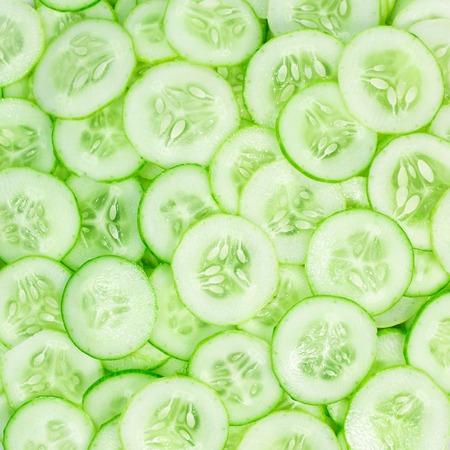 plakje komkommer patroon achtergrond voor te bereiden op voedsel Stockfoto