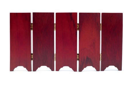 wallpapaer: Partition screen wall wood asian old oriental style isolated on white background Stock Photo
