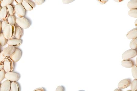 Pistachio moer bovenaanzicht frame geïsoleerd op een witte achtergrond Stockfoto