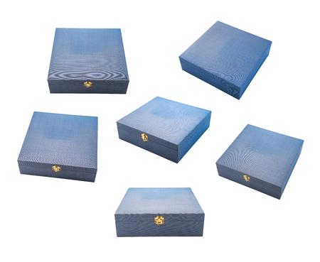 cadeau doos premium open en close collectie leeg verschillende hoek weergave set geïsoleerd op wit