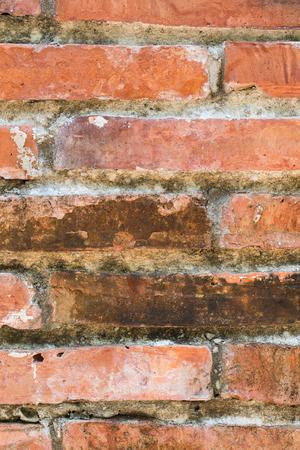 close-up bakstenen muur grunge bruine textuur achtergrond